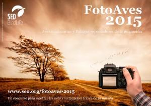Cartel del concurso FotoAves2015 de SEO/BirdLife