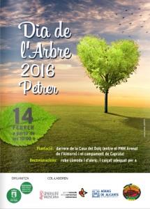 Cartel del Dia de l'Arbre, Petrer 2016 (14 de febrero)